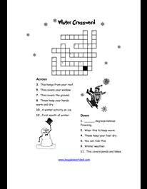 winter crossword worksheet winter solstice yule norse germanic homeschool worksheets. Black Bedroom Furniture Sets. Home Design Ideas