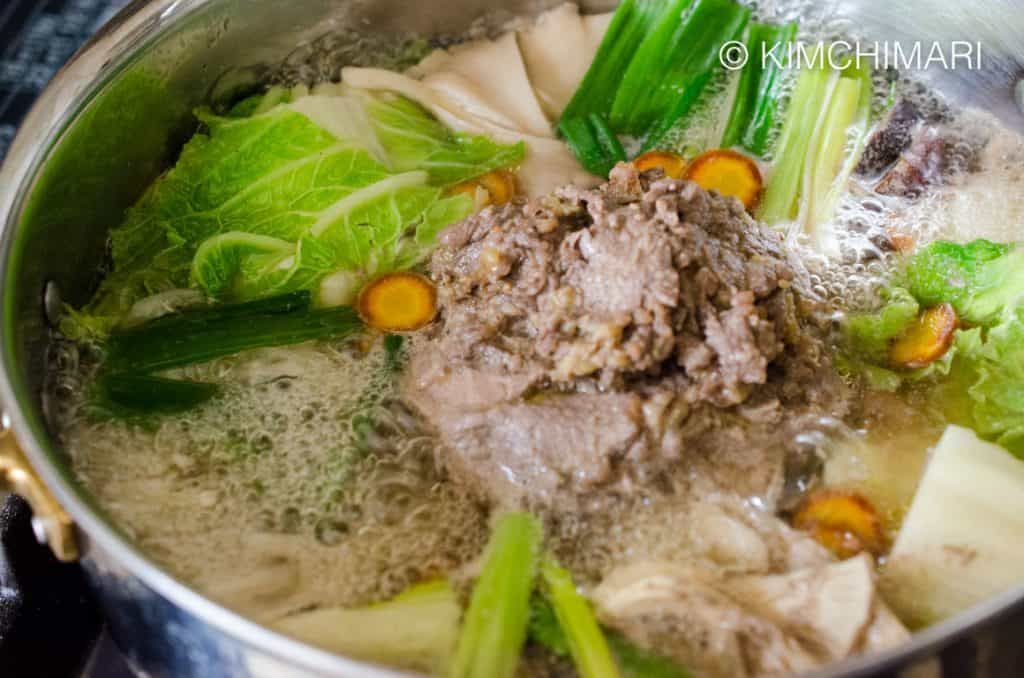 Bulgogi Hot Pot with Glass Noodles (Bulgogi Jeongol ...