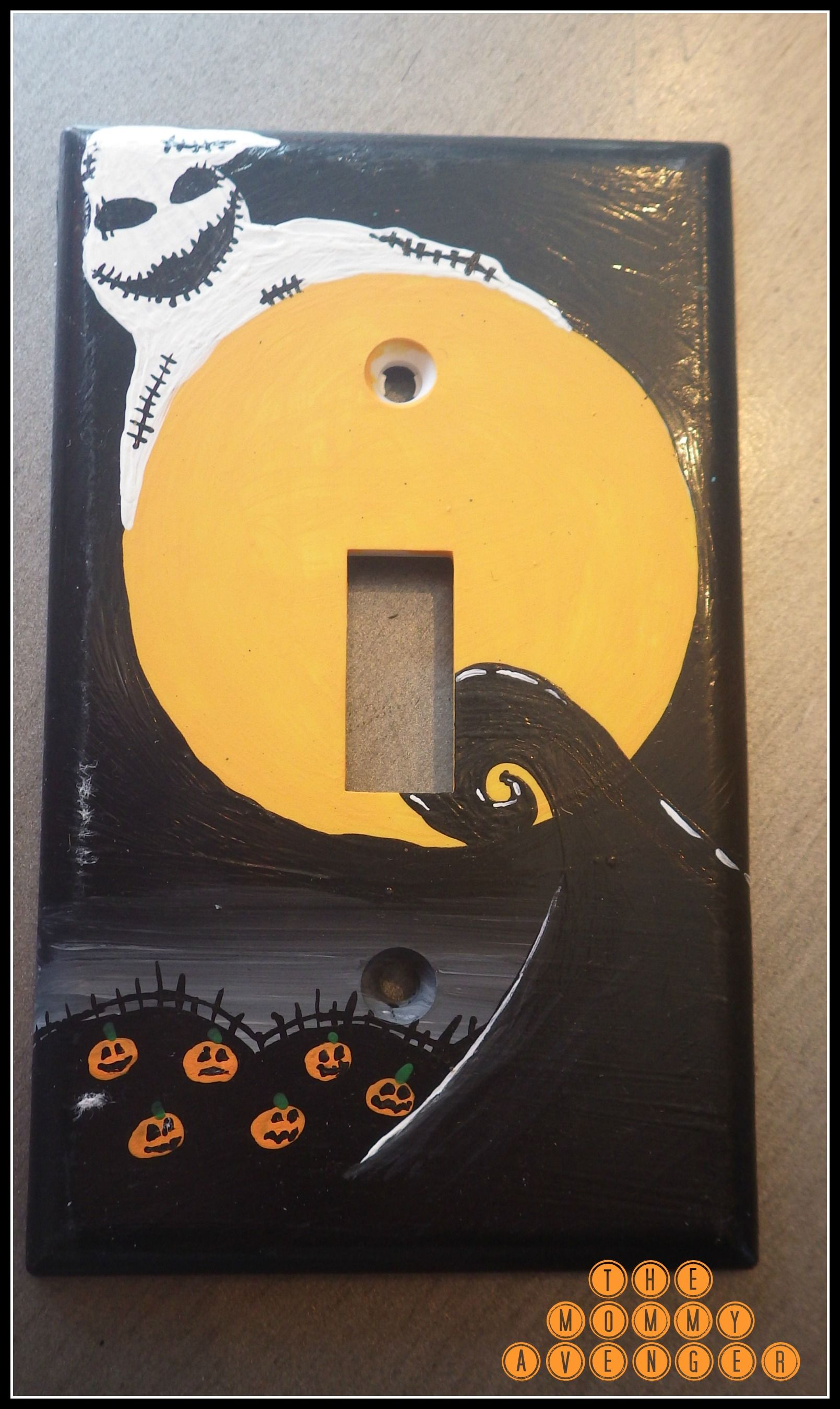 The Nightmare Before Christmas light switch plate | Halloween ...