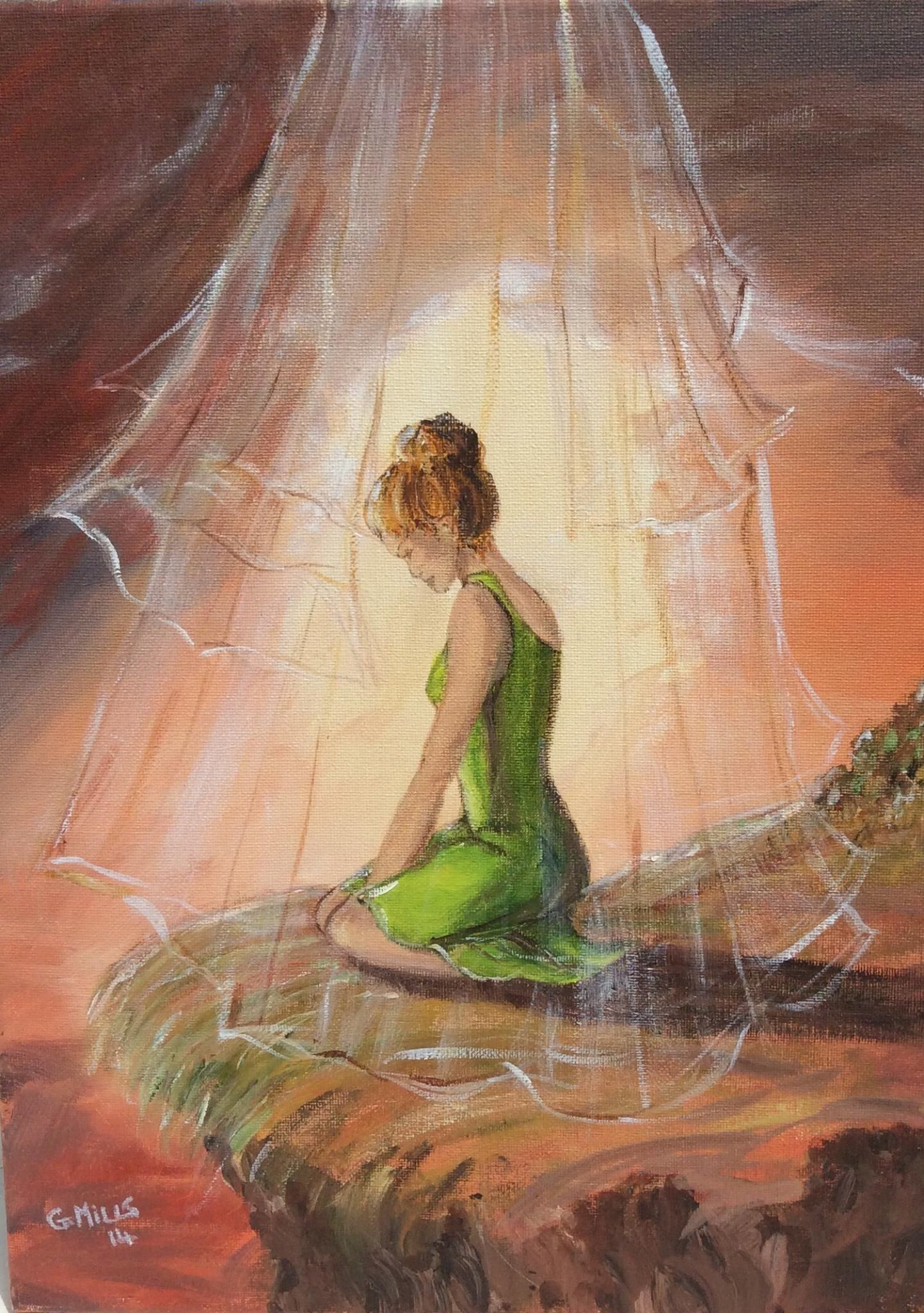 For He has clothed me with garments  of salvation and arrayed me in a robe of righteousness. Isaiah 61:10   Prophetic art worship, Prophetic art, Prophetic painting