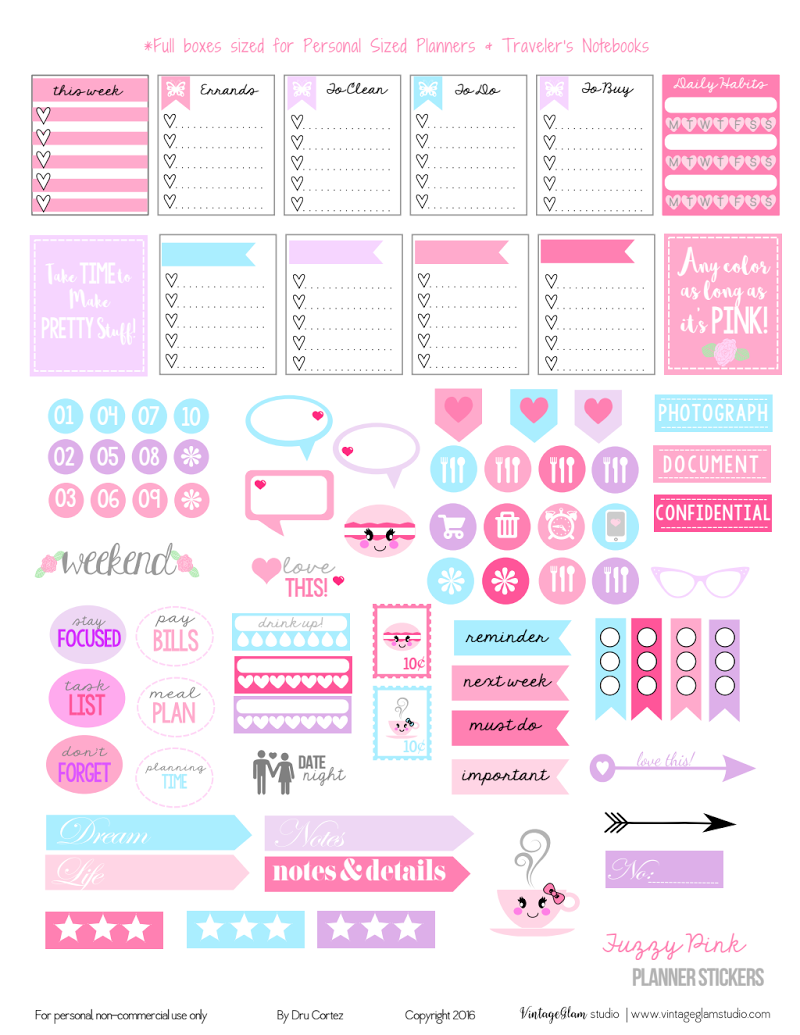 graphic regarding Bullet Journal Stickers Printable named Totally free printables for my bullet magazine Paperless