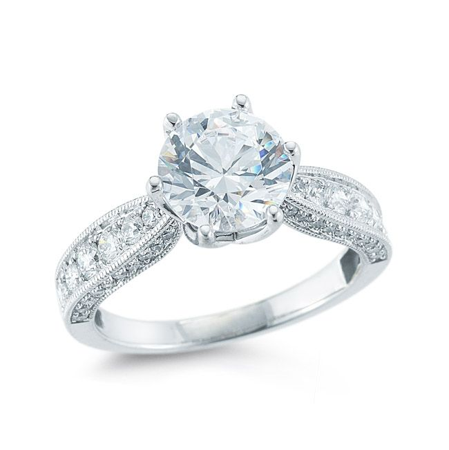 Vintage Round Diamond Engagement Ring