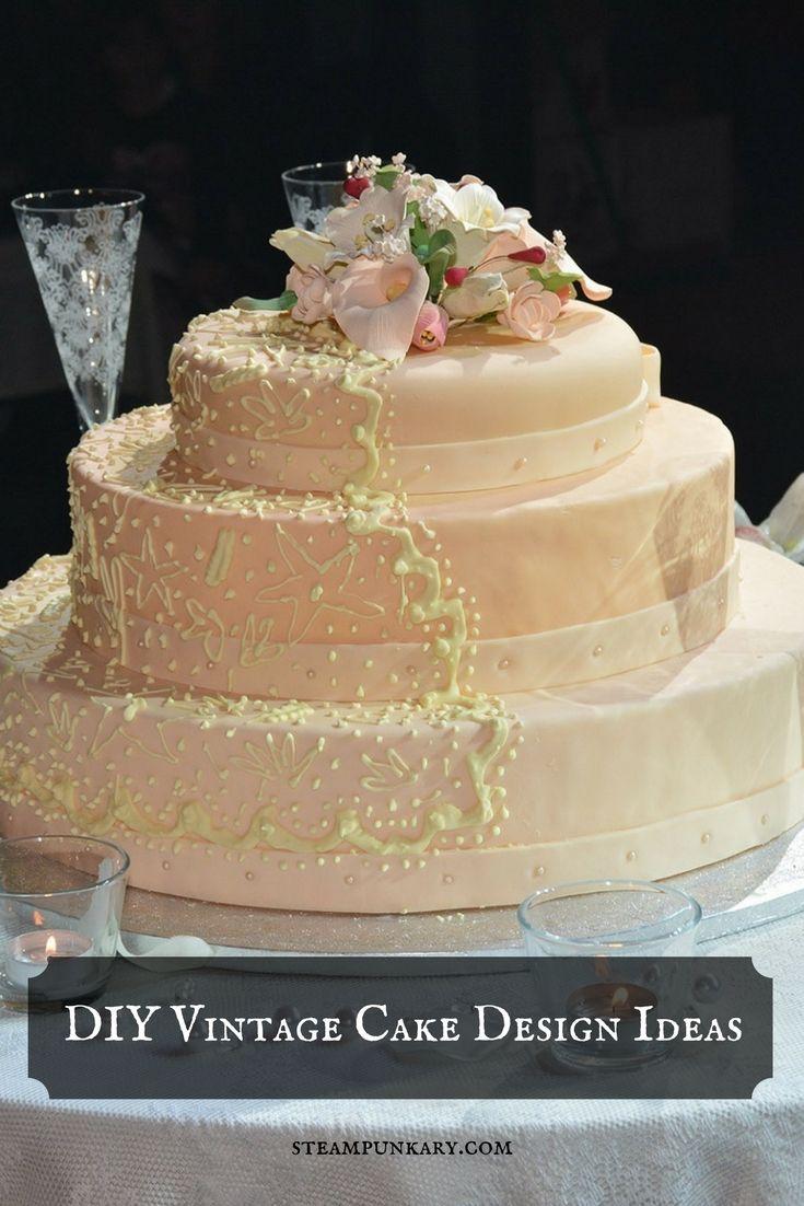 Diy vintage cake design ideas for a steampunk wedding cake designs