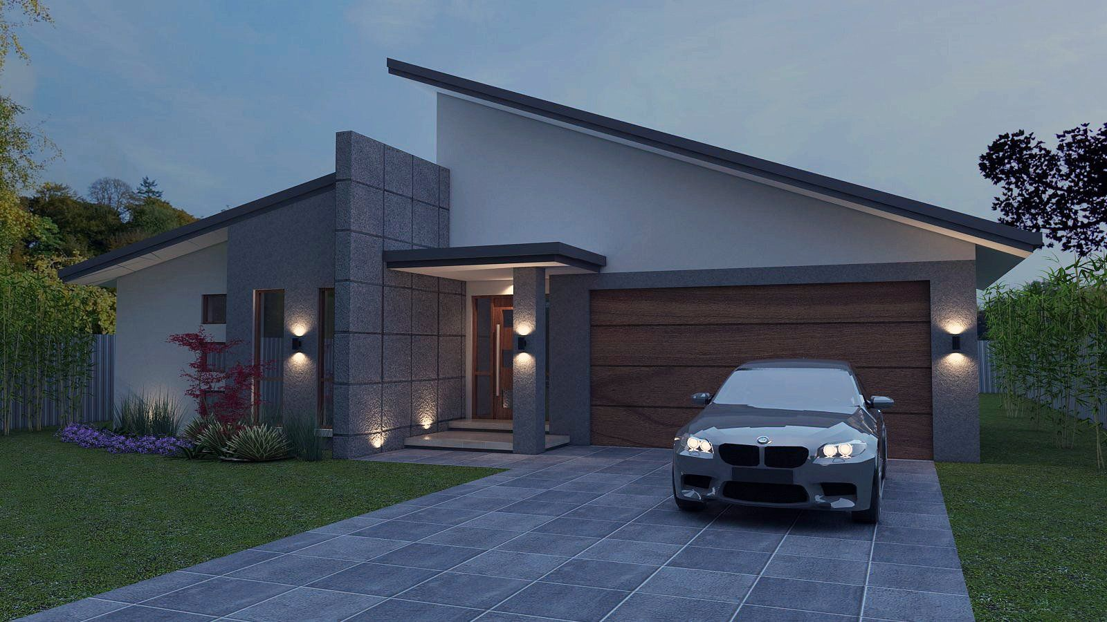 Green- 4 Bed Garage 233.0 M2 Skillion Roof