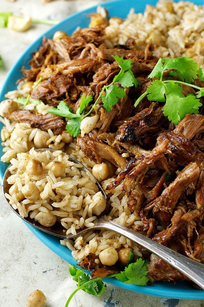 Photo of Middle Eastern Shredded Lamb with Chickpea Pilaf (Rice)