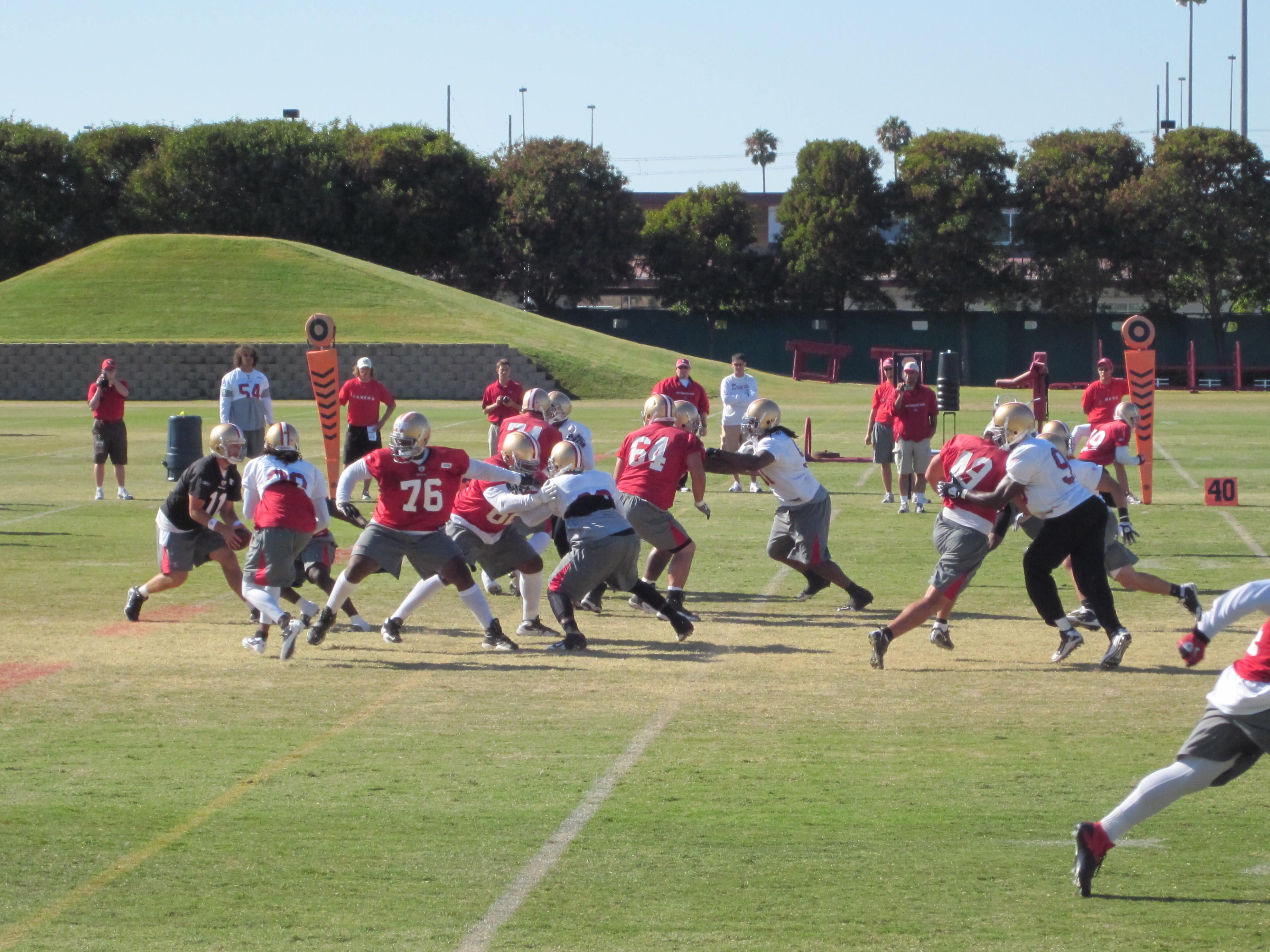 The San Francisco 49ers Conduct Training Camp At The Team S Headquarters And Practice Facility Spring Training Baseball Training Camp National Football League