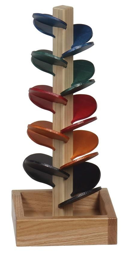 American Made Marble Tree Tower Wooden Toys Under The Stairs