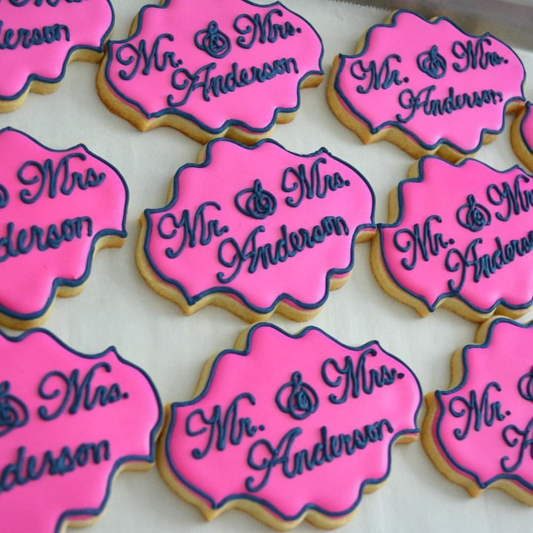 Mr and Mrs sugar cookies, wedding cookies - Erica Wilson ...