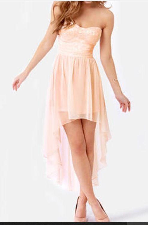 Low to high light pink dress | Fashion | Pinterest