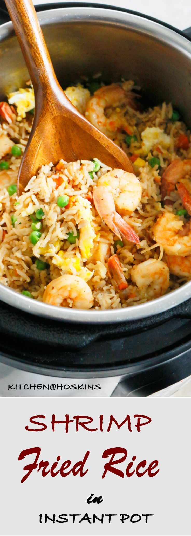 Shrimp fried Rice in Instant Pot - Pressure Cooker Shrimp Fried Rice