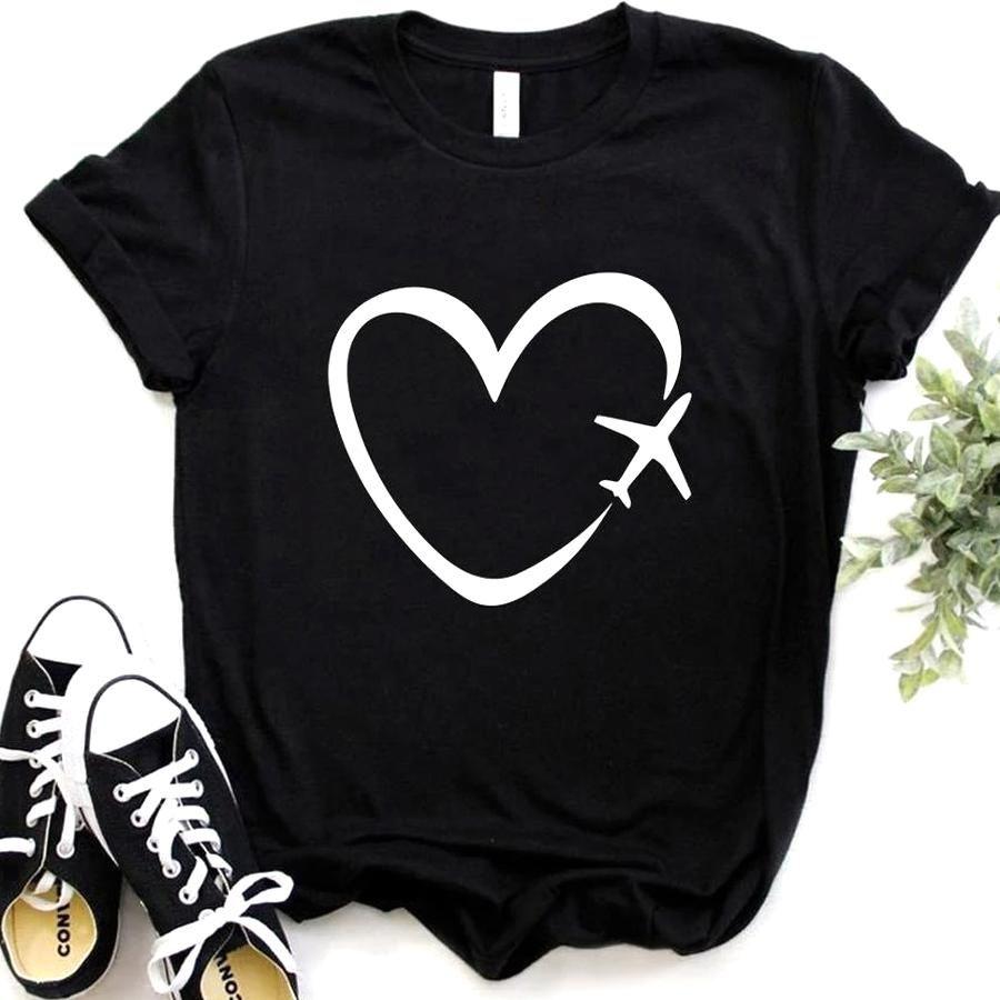 Ladies Style Shirts Tee Cotton Plain Humor