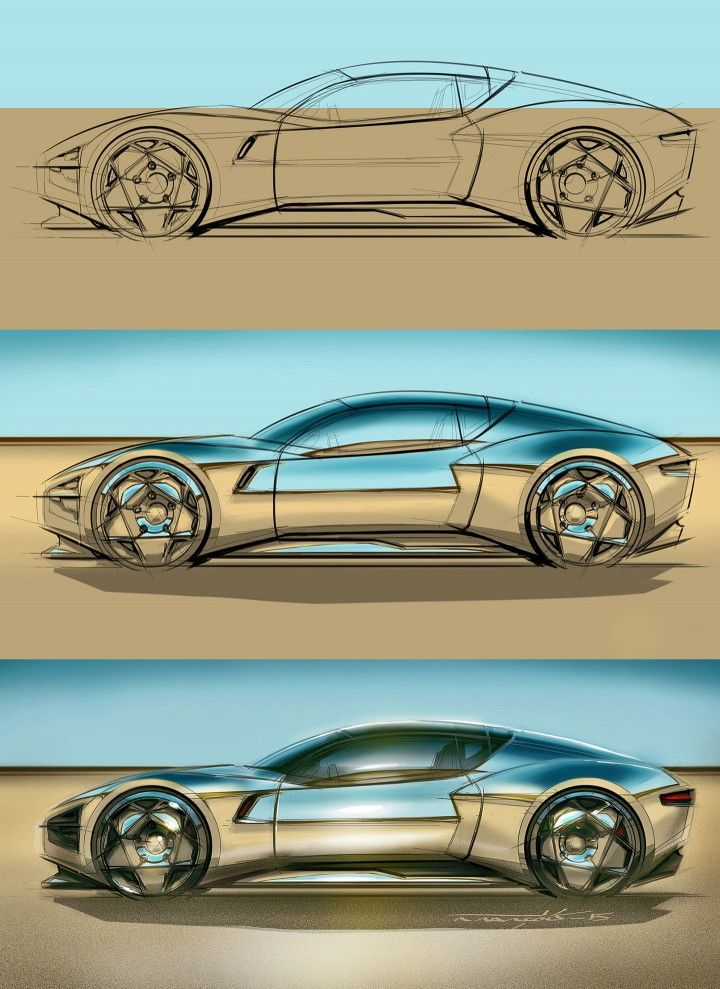 how to draw car reflections