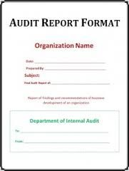 Image Result For Audit Report Sample School