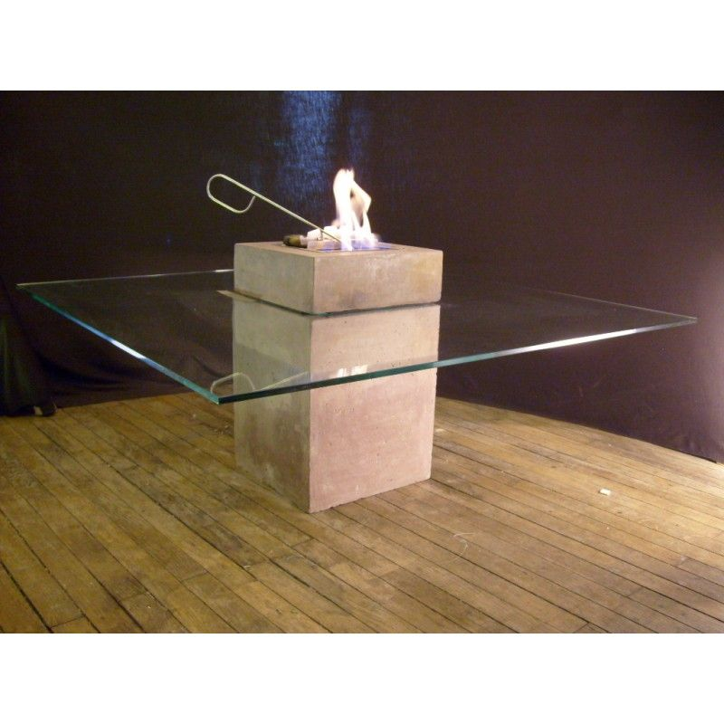 table basse chemine pendragon - Cheminee De Table Ethanol