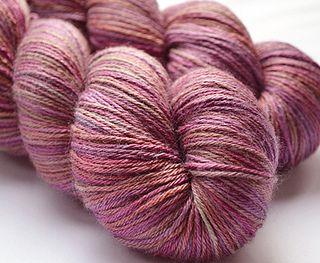 The Natural Dye Studio - Myrtleberry - Dazzling (BFL Wool/Silk) 4 ply