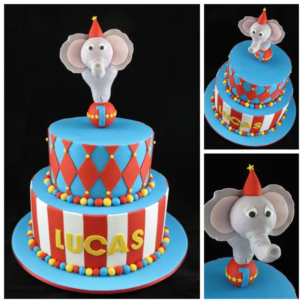 Pin Circus Themed Cake Kids Birthday Lion Polka Dot On Pinterest