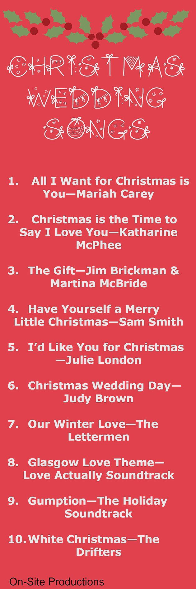 Double wedding soundtrack - 10 Christmas Wedding Songs Oh These Are Perfect For My Christmas Wedding The Link