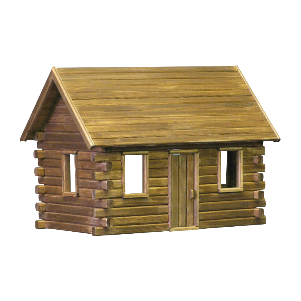 Crockett S Log Cabin Dollhouse Kit By Real Good Toys Cabin Dollhouse Log Cabin Kits Log Cabin Furniture