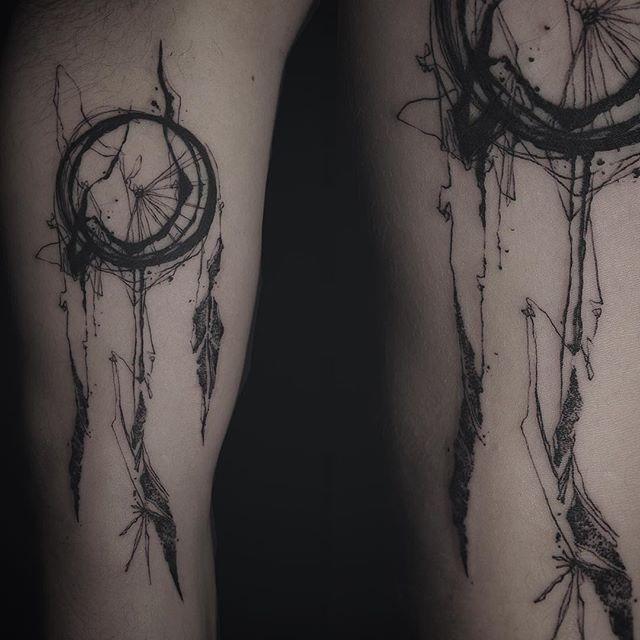 Dreamcatcher Tattoos For Guys Shadow Tattoo Dream Catcher Tattoo