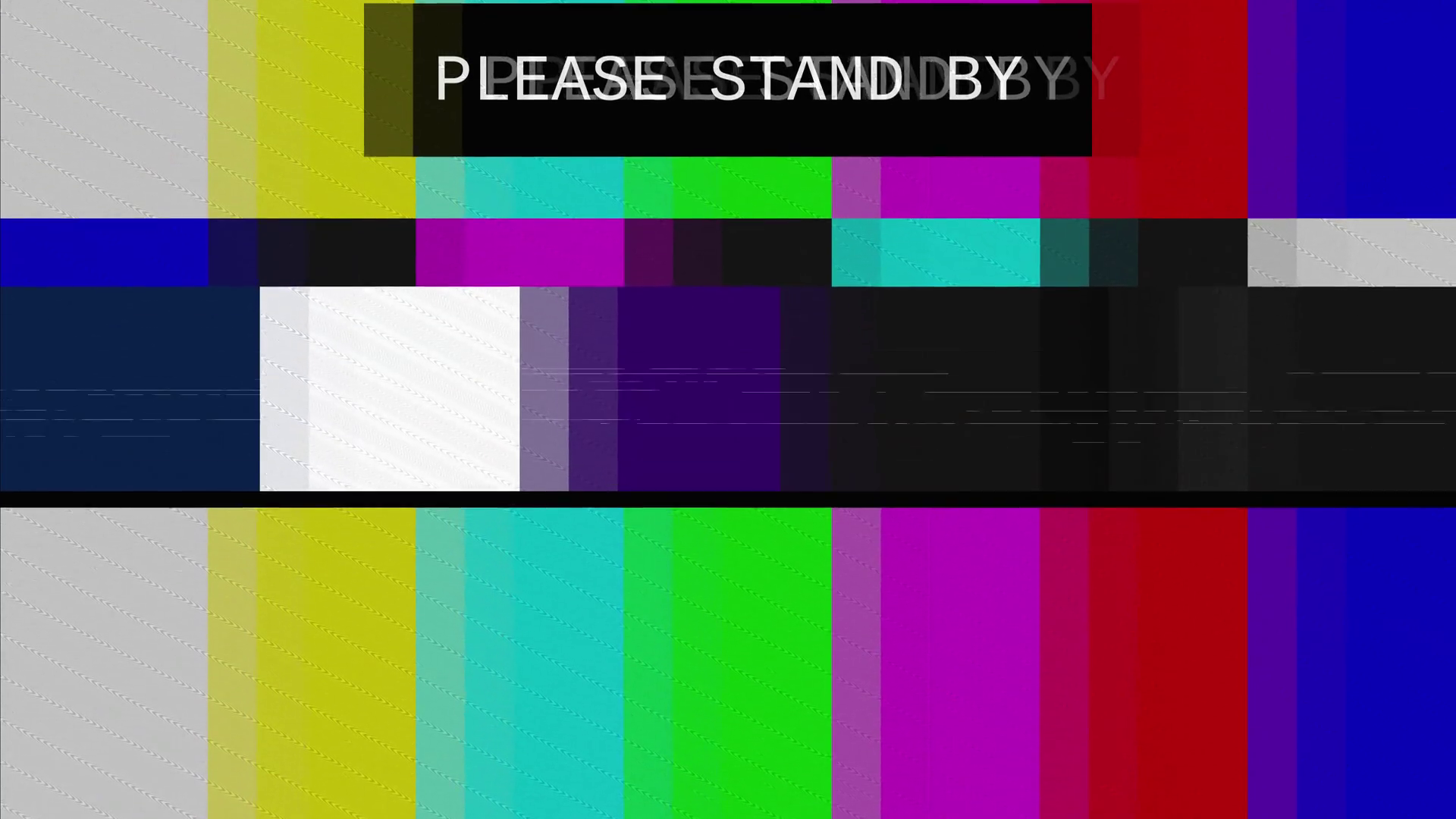 Smpte Color Bars Tv Please Stand By  Distorted tv
