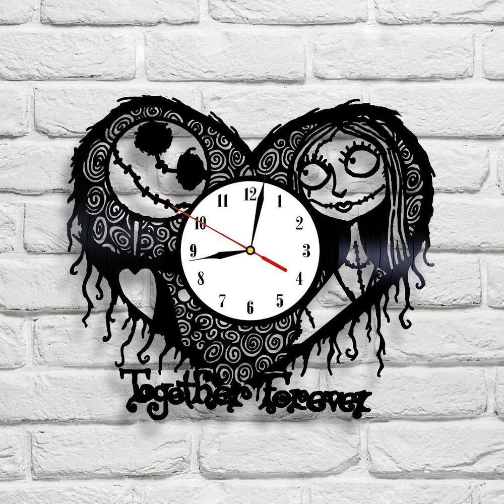 Nightmare Before Christmas - 1 design vinyl clock | Pinterest | Diy ...