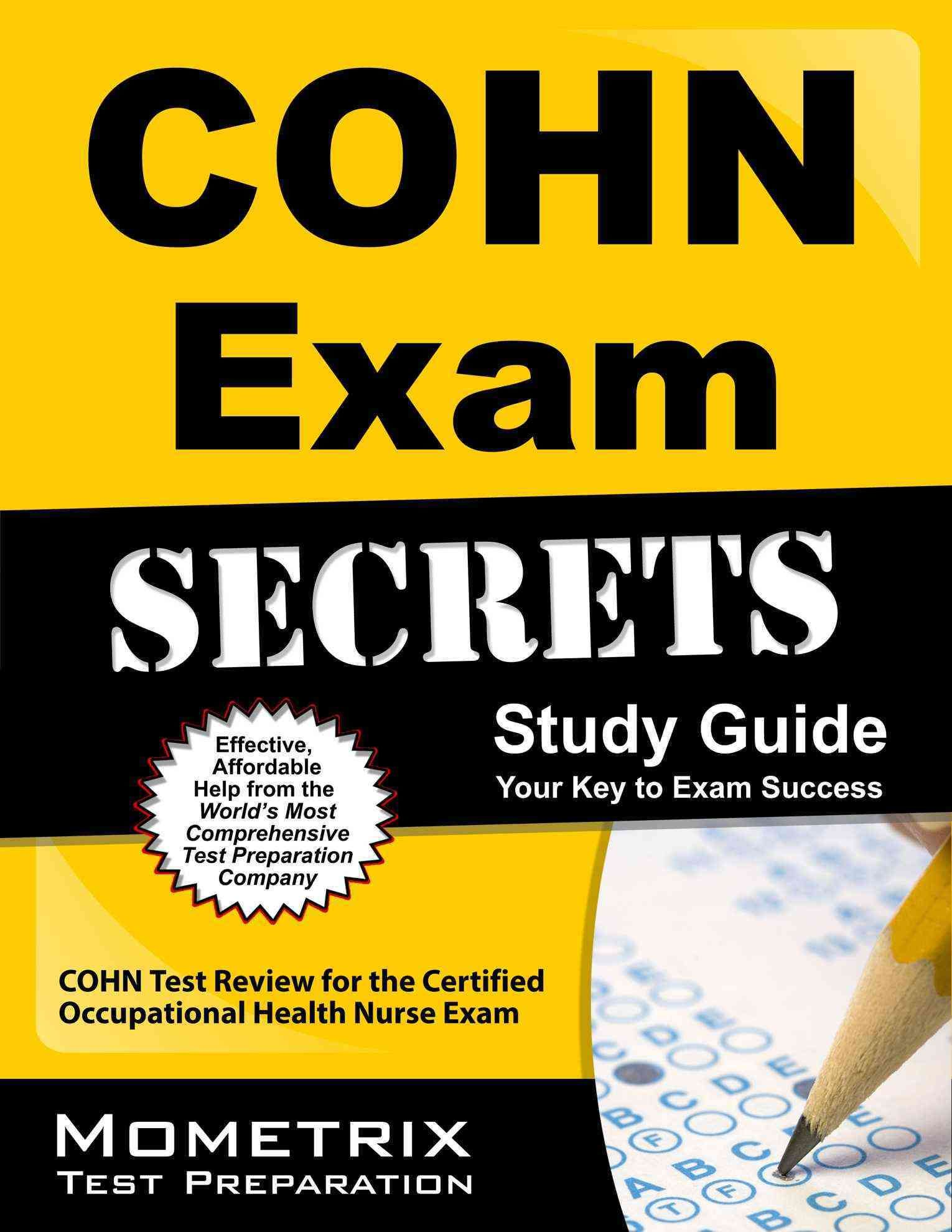 Cohn Exam Secrets Cohn Test Review For The Certified Occupational