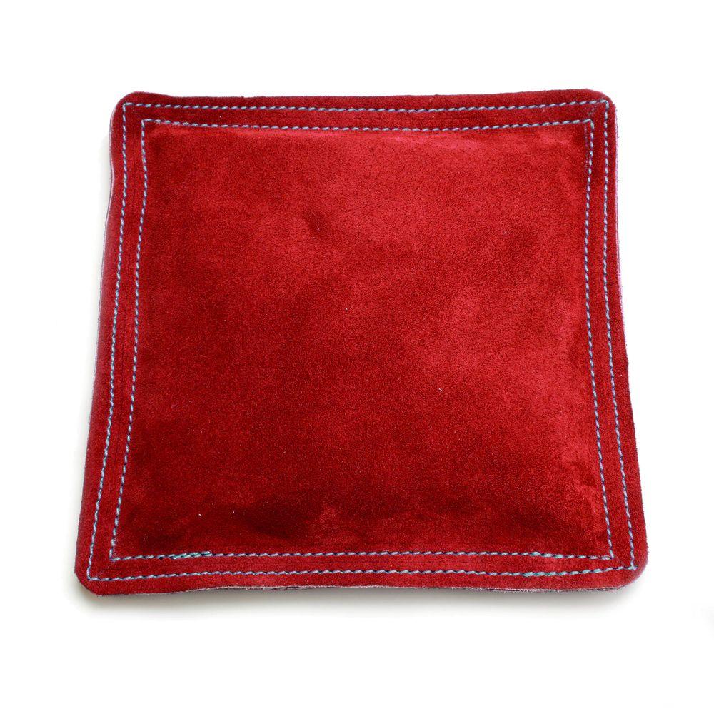 Sandbag Bench Block Pad 9 Square Red Leather Suede Metal Stamping Metal Stamping Diy Jewellery Metal Stamping Diy