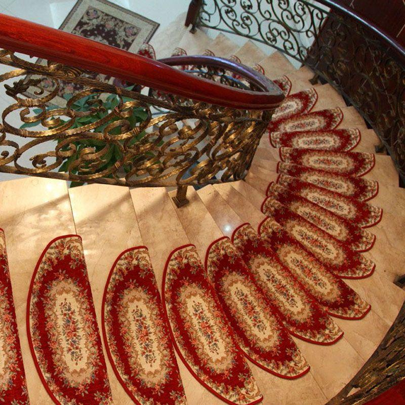 Best Keyama European Pastoral Style Acrylic Floral Carpet Stair 640 x 480