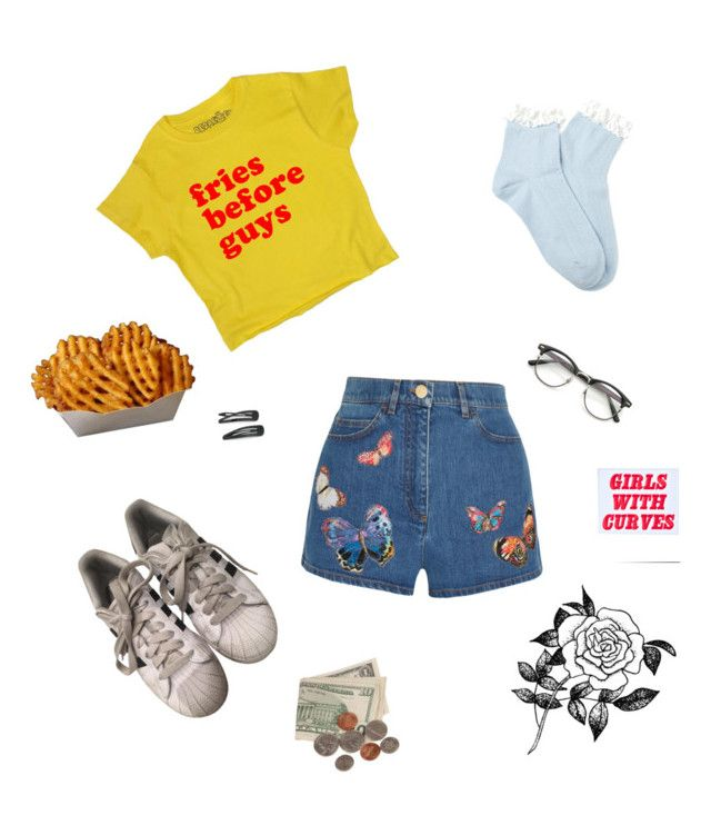 """Untitled #7"" by enswi on Polyvore featuring Valentino, adidas, Forever 21 and O-Mighty"