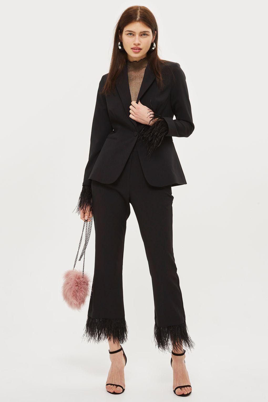 39a03a91d5 Feather Trim Suit | Shopping all 2k17-18 | Fashion, Clothes ...