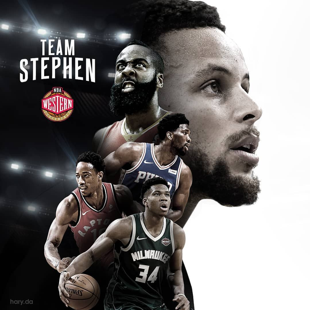 Nbaallstar Tonight Starters For Team Stephen Nbaallstar2018 Allstargame Teamst Sports Design Layout Sports Design Ideas Sports Graphic Design
