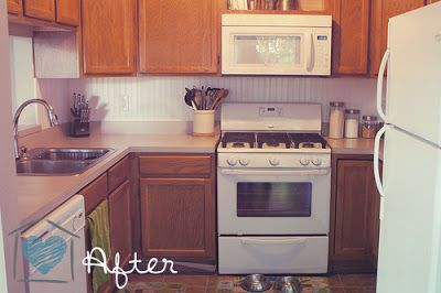 Spray Paint Amp Glaze Kitchen Counter Make Over New Home