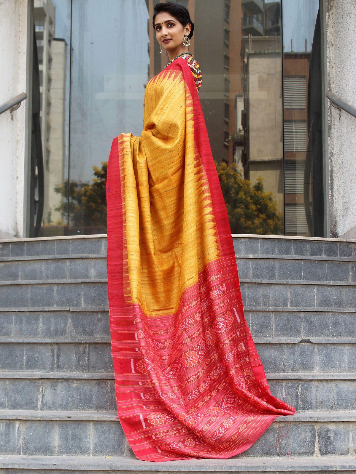 d1fa37e48d6d39 Shop for Yellow Gicha Silk Handwoven Saree With Multicolour Checks Fabric  Blouse online. Get Latest