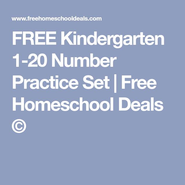FREE Kindergarten 1-20 Number Practice Set   Kindergarten, Free math ...