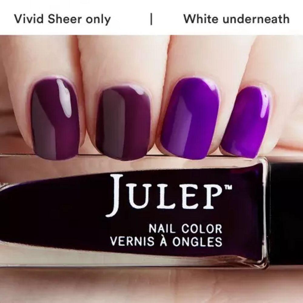 Julep SHANNA Nail Color Treat Polish Bombshell Botanical Violet Vivid Sheer #Julep