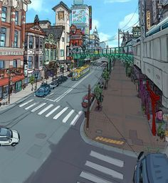 san fransokyo concept art - Buscar con Google