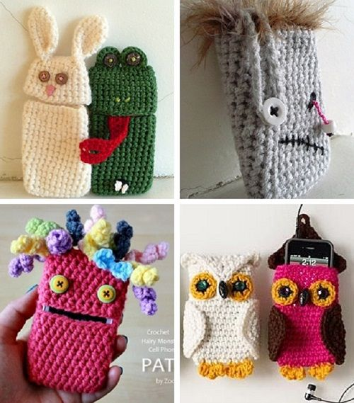 Как украсить вязаный чехол для телефона своими руками