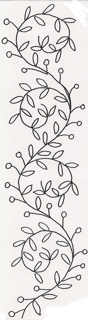 Floral swirly vines embroidery and patterns