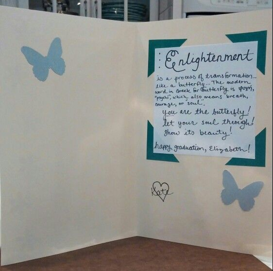 Enlightenment graduation card, hand made with love by kate collins