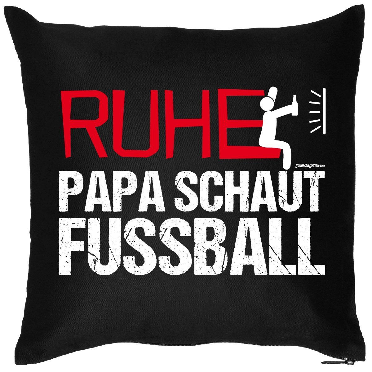 PAPA VERSTEHER Fußballer Geschenke Idee RUHE PAPA SCHAUT FUSSBALL ...