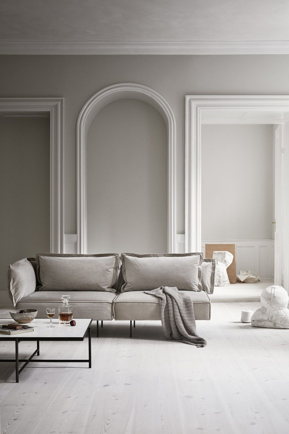 Two Seat Sofa Sand Velvet Truly Customizable Inspired By Italian Grandeur With A Touch Of Scandinav Minimalism Interior Interior Design Danish Furniture Design