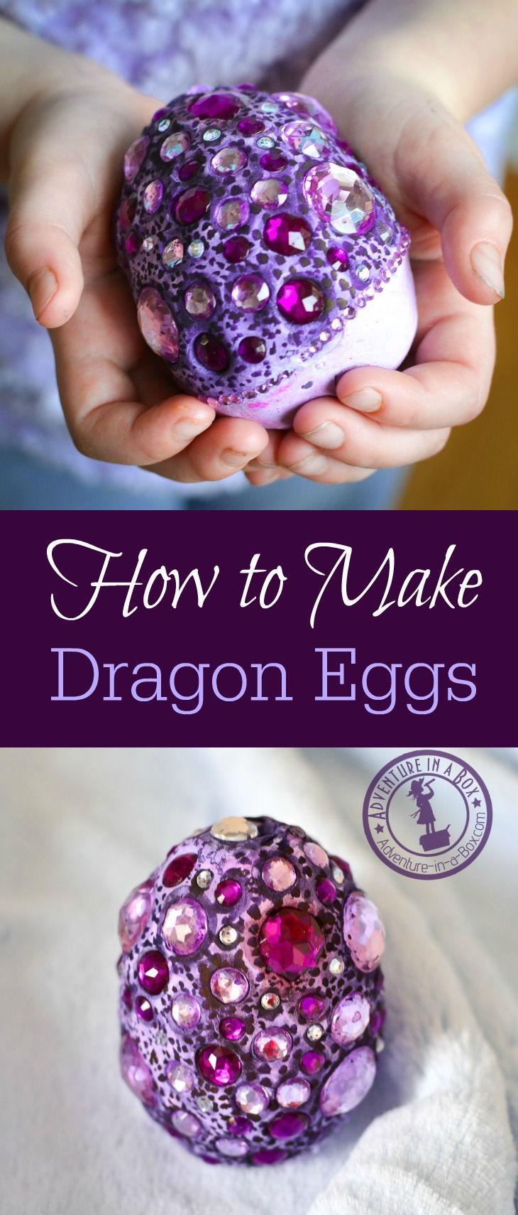 How to Make Fantasy Dragon Eggs Dragon egg, Air dry clay