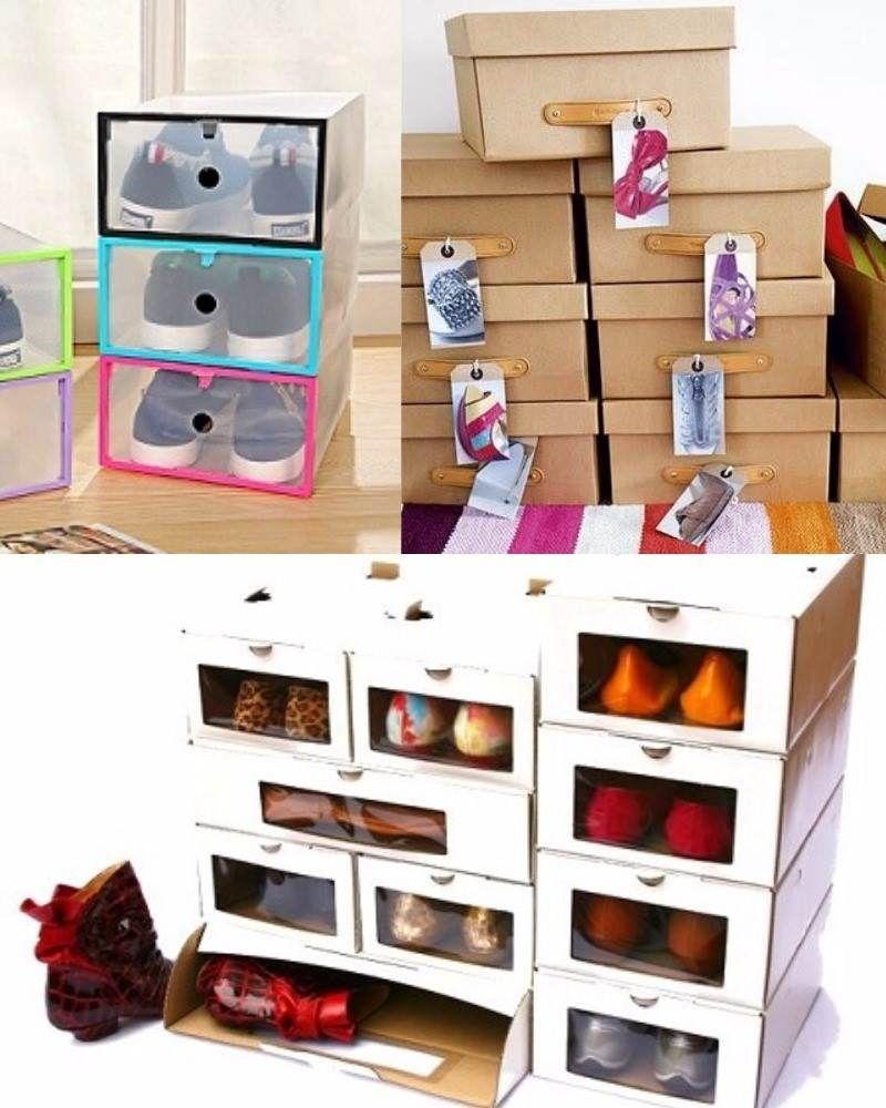 Ideas Para Guardar Y Organizar Tus Zapatos Stop Desorden  ~ Cajas Transparentes Para Zapatos