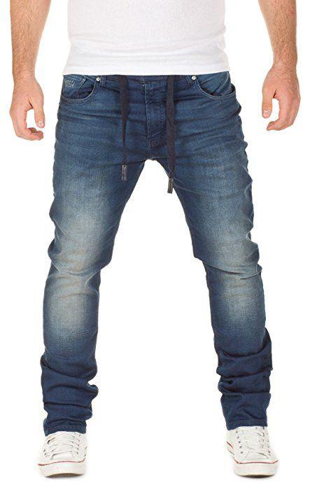 WOTEGA Herren Jeans - Sweathose in Jeansoptik Noah - slim, turbulence grey  (R4215), W28 L34 fbf6417ad6
