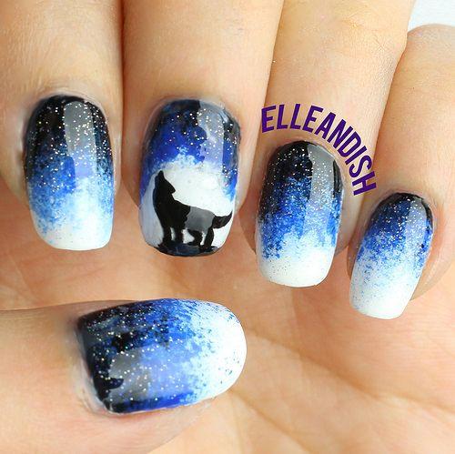 Diy Wolf Nails With A Phone Kids Nail Designs Trendy Nails Nail Designs