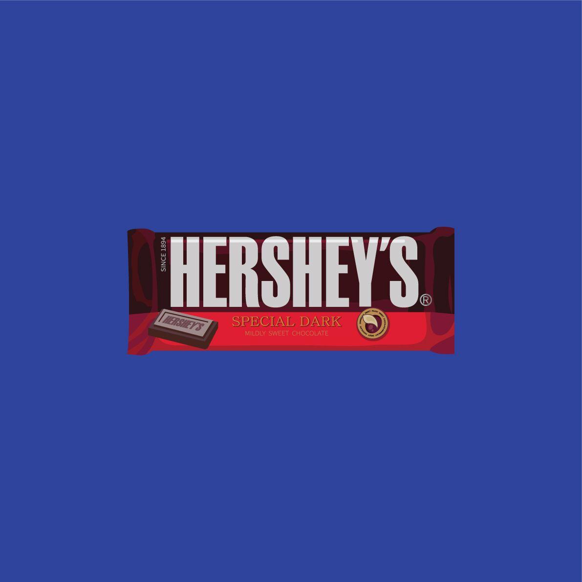 Hershey Dark Chocolate Illust