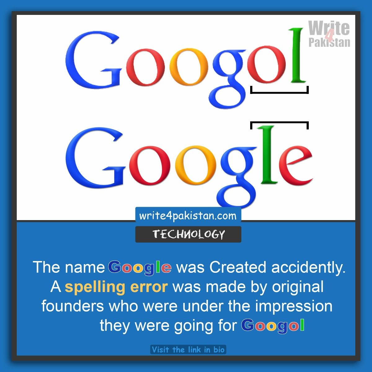 googol ---> google. Interesting fact about Google. Mistake by ...
