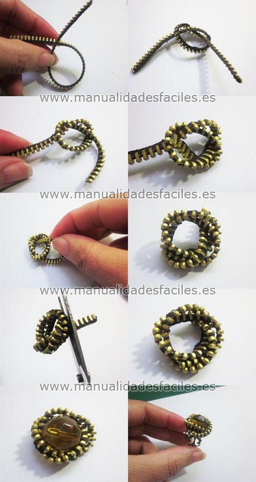 DIY Rings made of Zippers - Tutorial