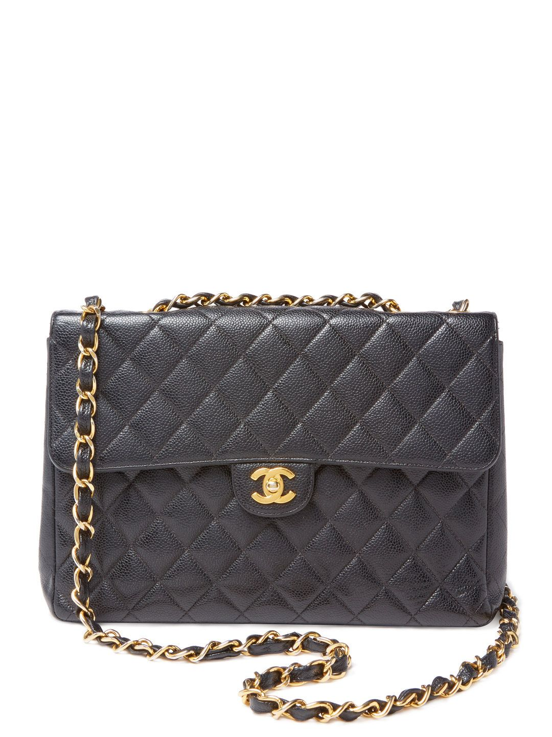 Black Quilted Caviar Single Flap Jumbo by Chanel at Gilt   Witch ... 4c7b397914