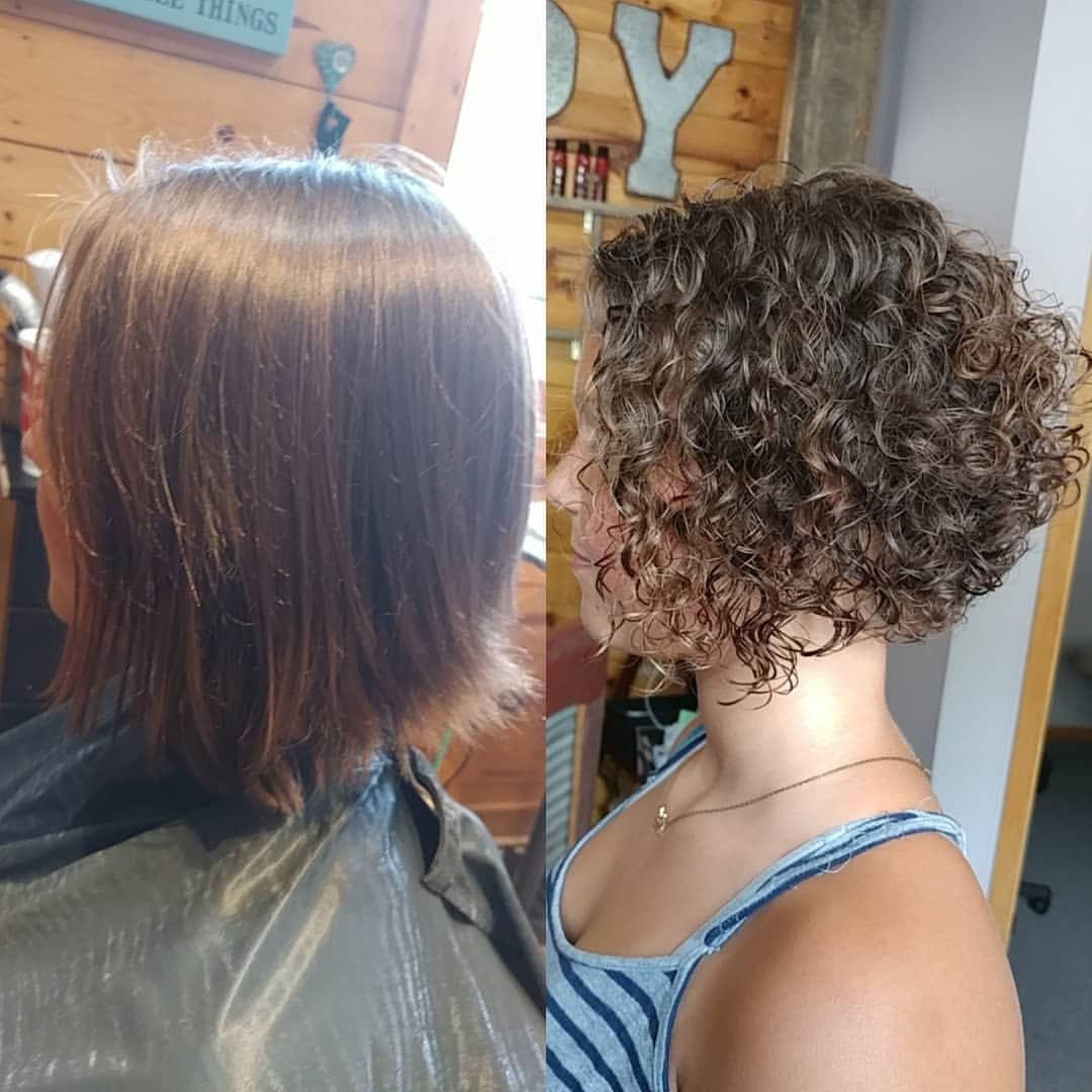 Beautifulhair Beforeandafter Perm Spiralperm Curlyhairdontcare Permed Hairstyles Short Permed Hair Hair Styles